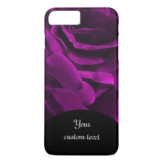 Romantic purple roses floral photo iPhone 8 plus/7 plus case