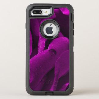 Romantic purple roses floral photo OtterBox defender iPhone 8 plus/7 plus case
