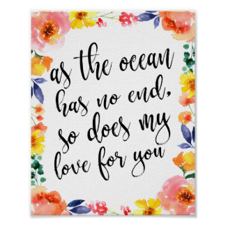 Romantic Quote Beach Wedding 8x10 Sign