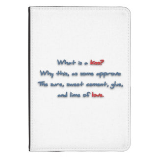 Romantic Quote - What is a kiss? Why this, as so … Kindle Touch Cover