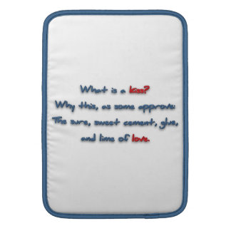 Romantic Quote - What is a kiss? Why this, as so … MacBook Sleeves