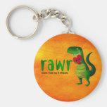 Romantic RAWR T-rex Dinosaur Key Chain