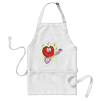 Romantic Red Heart Man Apron