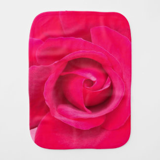 Romantic Red Pink Rose Burp Cloth