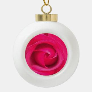 Romantic Red Pink Rose Ceramic Ball Decoration