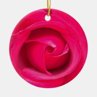 Romantic Red Pink Rose Christmas Ornament