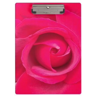 Romantic Red Pink Rose Clipboard