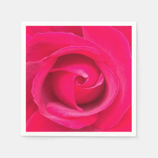 Romantic Red Pink Rose Disposable Napkin