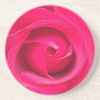 Romantic Red Pink Rose Drink Coasters