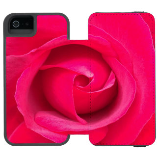 Romantic Red Pink Rose Incipio Watson™ iPhone 5 Wallet Case