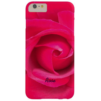 Romantic Red Pink Rose Personalized Barely There iPhone 6 Plus Case
