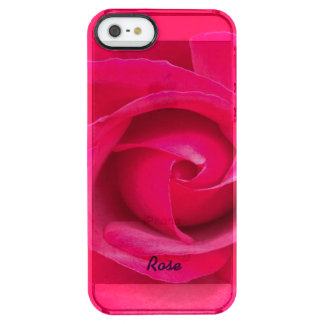Romantic Red Pink Rose Personalized Clear iPhone SE/5/5s Case