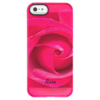 Romantic Red Pink Rose Personalized Permafrost® iPhone SE/5/5s Case