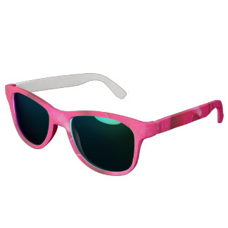 Romantic Red Pink Rose Sunglasses