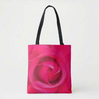 Romantic Red Pink Rose Tote Bag