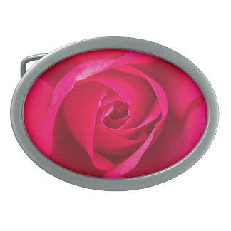 Romantic Red Pink Rose v2 Belt Buckle