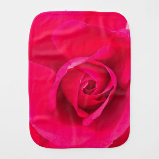 Romantic Red Pink Rose v2 Burp Cloth