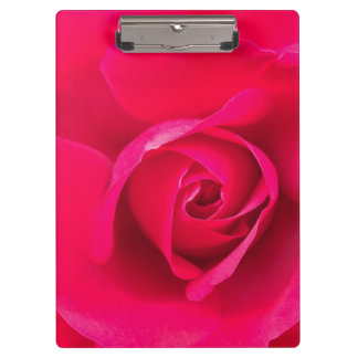 Romantic Red Pink Rose v2 Clipboard