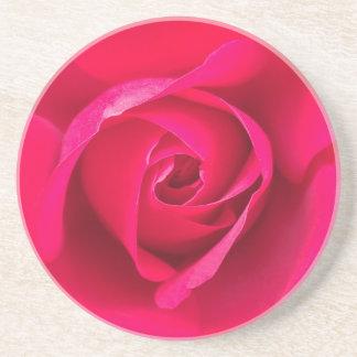 Romantic Red Pink Rose v2 Coaster