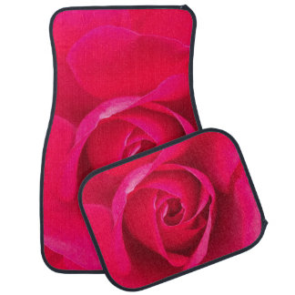 Romantic Red Pink Rose v2 Floor Mat