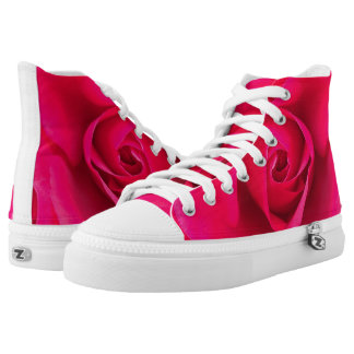 Romantic Red Pink Rose v2 High Tops