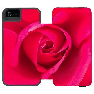 Romantic Red Pink Rose v2 Incipio Watson™ iPhone 5 Wallet Case