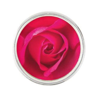 Romantic Red Pink Rose v2 Lapel Pin
