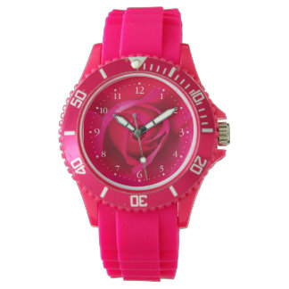Romantic Red Pink Rose v2 Watch