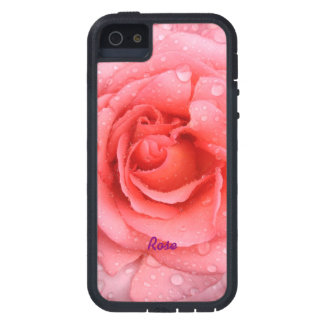 Romantic Red Pink Rose Water Drops Personalized Tough Xtreme iPhone 5 Case