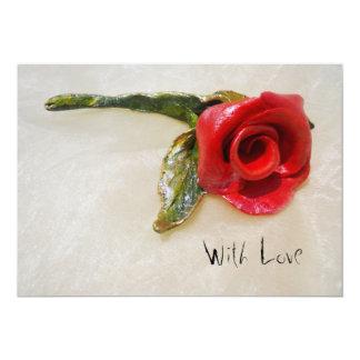 romantic red rose invitation