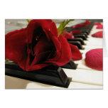 Romantic Red Rose Love Greeting Card