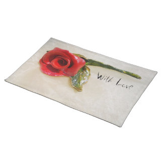 romantic red rose Placemat