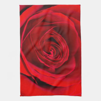 Romantic Red Rose Tea Towel