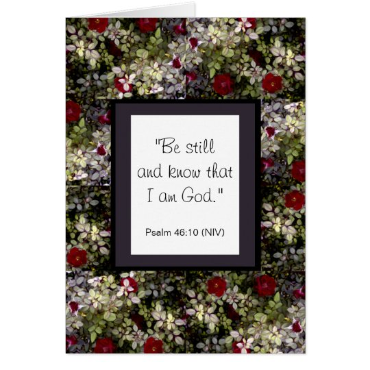 Romantic Red Roses Bible Verse Greeting Card