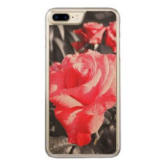 Romantic Red Roses Carved iPhone 8 Plus/7 Plus Case