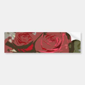 Romantic Red Roses Digital Art Bumper Sticker