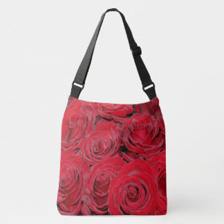 Romantic Red Roses Love Flowers, Floral Bag