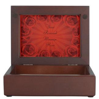 Romantic Red Roses Memory Box