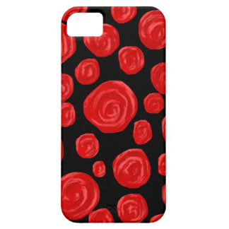 Romantic red roses on black background. iPhone 5 cover