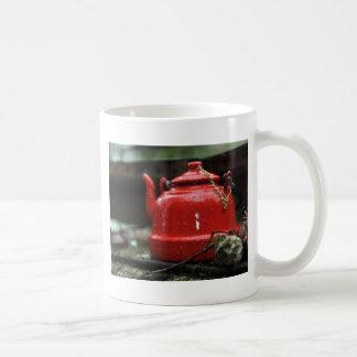 Romantic Red Tea Kettle Basic White Mug