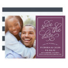 Romantic Request Photo Save the Date Card | Plum