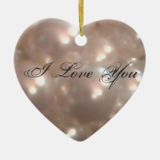 Romantic Retro Style I Love You Antique Pearls Ceramic Heart Decoration