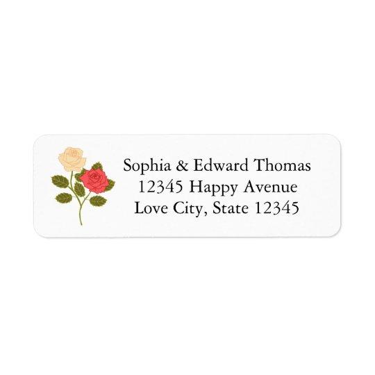 Romantic Rose Garden Wedding Return Address Label
