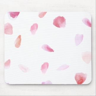 Romantic Rose Petals Mouse Pad