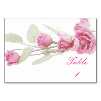 Romantic Rose Place Marker Table Card