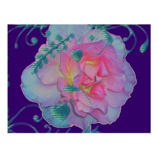Romantic Rose Post Card