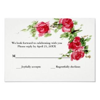 Romantic Rose Response Card 9 Cm X 13 Cm Invitation Card