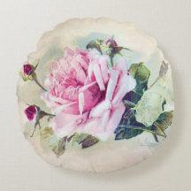 Romantic Rose Round Pillow