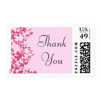 Romantic Rose Thank You Postage Stamps