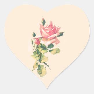 Romantic Rose Watercolor Painting Sticker